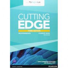 Учебник английского языка Cutting Edge Pre-intermediate 3rd edition Student Book with DVD and myEnglishLab