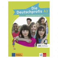 Учебник Die Deutschprofis A2 Kursbuch mit Audios und Clips online