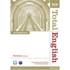 Рабочая тетрадь New Total English Intermediate Workbook with Key and Audio CD Pack