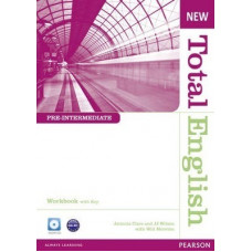 Рабочая тетрадь New Total English Pre-Intermediate Workbook with Key and Audio CD Pack