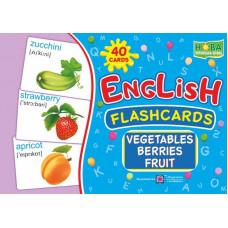 Набор карточек. Фрукты, овощи, ягоды.