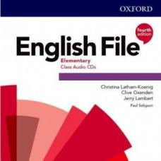 Диски English File 4th Edition Elementary Class Audio CDs