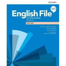 Рабочая тетрадь English File 4th Edition Pre-Intermediate Workbook with key