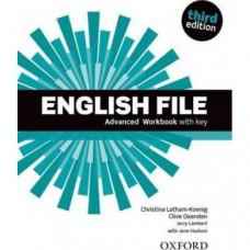 Рабочая тетрадь English File 3rd Edition Advanced Workbook with Key