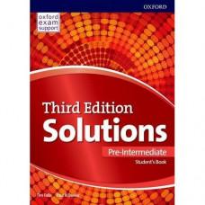 Учебник Solutions Third Edition Pre-Intermediate Student's Book