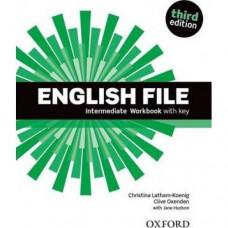 Рабочая тетрадь English File 3rd Edition Intermediate Workbook with Key