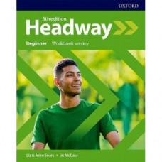 Рабочая тетрадь New Headway (5th Edition) Beginner Workbook with Key
