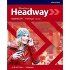 Рабочая тетрадь  Headway (5th Edition) Elementary Workbook with Key