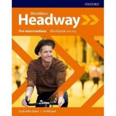 Рабочая тетрадь  Headway (5th Edition) Pre-Intermediate Workbook with Key