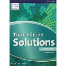 Учебник  Solutions Third Edition Elementary Student's Book