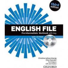 Рабочая тетрадь English File 3rd Edition Pre-Intermediate Workbook with Key