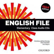 Диски English File 3rd Edition Elementary Class Audio CDs