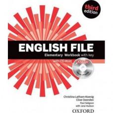 Рабочая тетрадь English File 3rd Edition Elementary Workbook with Key