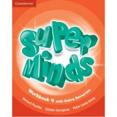 Рабочая тетрадь Super Minds 4 Workbook with Online Resources