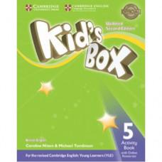 Рабочая тетрадь Kid's Box Updated Second edition 5 Activity Book